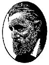 [woodcut portrait of John Muir]