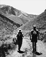 Hikers near Nevada's Toiyabe Range