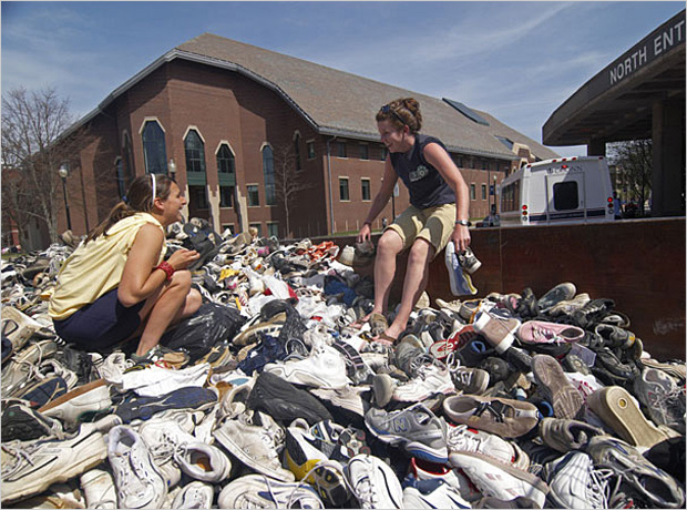 University of Connecticut, Sierra's Coolest Schools, Top 10 green schools, greenest schools, Nike recycle, shoe recycling, Peter Morenus, Reuse a shoe
