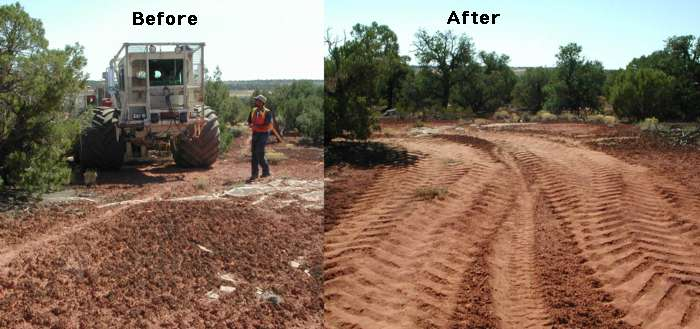 Soil crusts destroyed by seismic exploration for Soil exploration