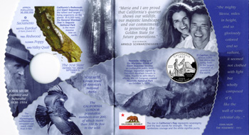 Final design of john muir yosemite california state quarter