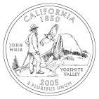 California State Quarter Honors John Muir and Yosemite
