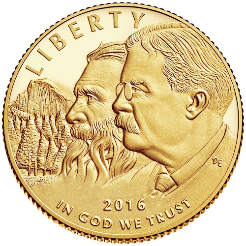 1916 National Park Centennial Coin features John Muir and Theodore Roosevelt