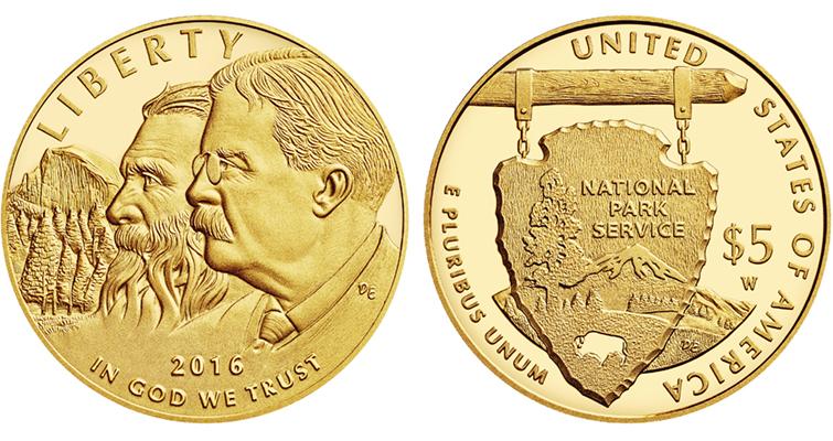 national park service 2016 centennial commemorative gold coin