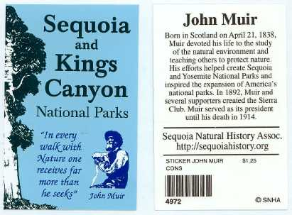 John Muir Sticker Sequoia And Kings Canyon National Park