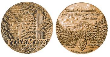 Yosemite National Park Centennial Bronze Medal John Muir Exhibit