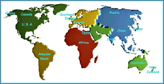 World map countries study guide