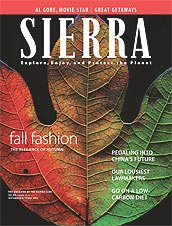 The lastest issue of Sierra magazine.