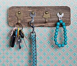 Key Rack From Old Keys by Wendy Becktold on Sierra