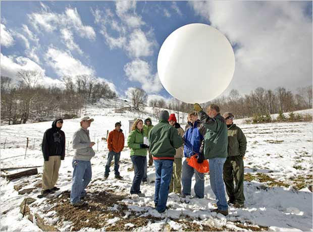 Appalachian State University, Sierra's Coolest Schools, Top 10 green schools, greenest schools, weather balloon, snow prediction, Marie Freeman